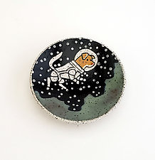 Astronaut Dog Small Dish by Ian Buchbinder (Ceramic Dish)