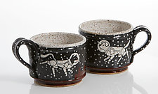 Astronaut Short Mugs by Ian Buchbinder (Ceramic Mug)
