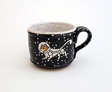 Astronaut Cat Short Mug by Ian Buchbinder (Ceramic Mug)