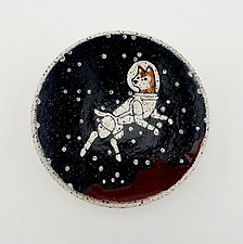 Small Astronaut Dog Dish by Ian Buchbinder (Ceramic Bowl)