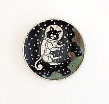 Astronaut Cat Small Dish by Ian Buchbinder (Ceramic Dish)