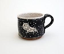 Astronaut Dog Short Mug by Ian Buchbinder (Ceramic Mug)