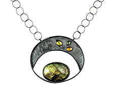 Moon Over Mars by Tammy B (Silver & Stone Necklace)