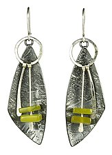 Jade Lures by Tammy B (Silver & Stone Earrings)