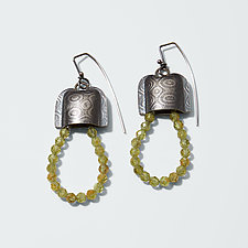 Deco Loop Earrings by Sarah Chapman (Silver & Stone Earrings)