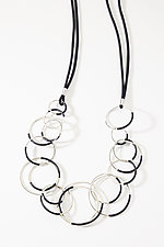 Jumble Rings Necklace by Laura Hutchcroft (Silver & Rubber Necklace)