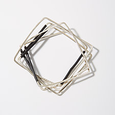 B&W Square Bangles by Laura Hutchcroft (Silver Bracelet)