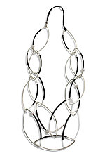 Black and White Links Necklace by Laura Hutchcroft (Silver & Stone Necklace)