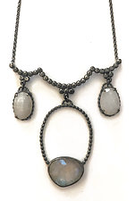 Victorian Inspired Moonstone Necklace by Alice Scott (Silver & Stone Necklace)