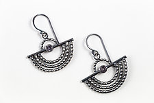 Sterling Silver Outstretched Wing Earrings by Alice Scott (Silver & Stone Earrings)