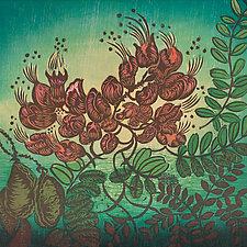 Uhiuhi by Andrea  Pro (Woodcut Print)