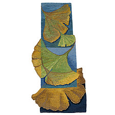 Ginkgo Flamenco Tapestry by Rita Gekht (Fiber Wall Hanging)