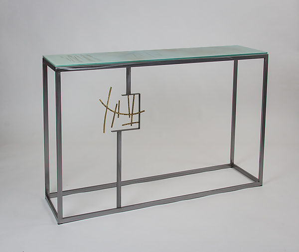 Melbourne Console By Ken Girardini And Julie Girardini (Metal Console Table)  | Artful Home
