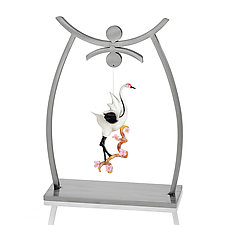 Shinto Ornament Display by Ken Girardini and Julie Girardini (Metal Ornament Stand)