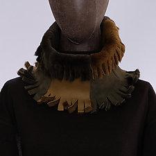 Shearling Cowl V by Toshiki & Maryszka (Shearling Scarf)
