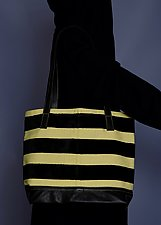 Lemon Stripe Tote by Toshiki & Maryszka (Leather Purse)