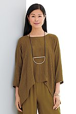 Barcelona Striped Top by Lisa Bayne  (Woven Top)