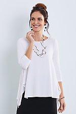 3/4 Sleeve Brighton Top by Lisa Bayne  (Knit Top)