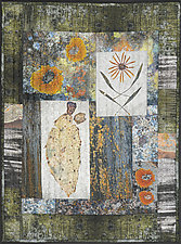 Cactus and Black Eyed Susan by Jenny  Knavel (Fiber Wall Hanging)