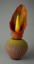 Sundance by Ellen Silberlicht (Ceramic & Fiber Sculpture)