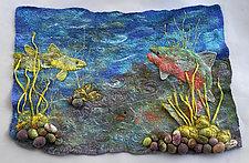 Under Water World by Ellen Silberlicht (Fiber Wall Hanging)