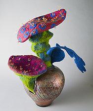 Wild Spores by Ellen Silberlicht (Mixed-Media Sculpture)