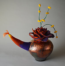 Aladdin's Garden by Ellen Silberlicht (Ceramic and Fiber Sculpture)