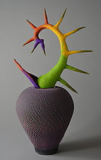 Come Closer by Ellen Silberlicht (Ceramic & Fiber Sculpture)