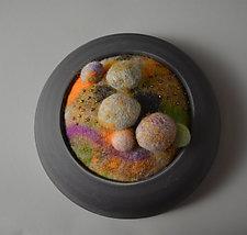 Beige Rocks by Ellen Silberlicht (Fiber Wall Hanging)