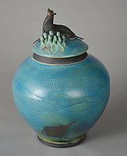 Seal Jar by Ellen Silberlicht (Ceramic Jar)