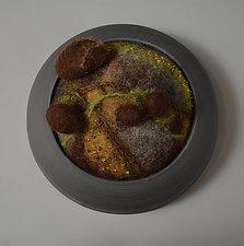 Brown Rocks by Ellen Silberlicht (Fiber Wall Sculpture)