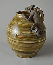 The Climb by Ellen Silberlicht (Ceramic Vessel)