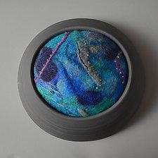 Blue Planet by Ellen Silberlicht (Fiber Wall Sculpture)