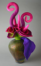 Emerging Essence by Ellen Silberlicht (Ceramic & Fiber Sculpture)