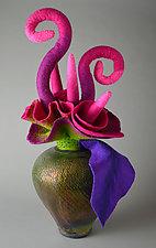Emerging Essence by Ellen Silberlicht (Ceramic & Fiber Sculpture)