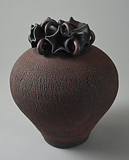 Stars on Top by Ellen Silberlicht (Ceramic Vase)