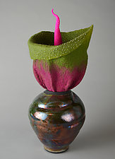 Temptation by Ellen Silberlicht (Ceramic & Fiber Sculpture)