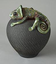 Chameleon by Ellen Silberlicht (Ceramic Vessel)