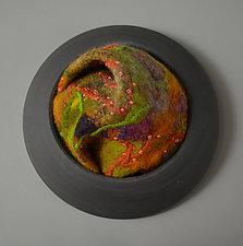 Freeform by Ellen Silberlicht (Fiber Wall Sculpture)
