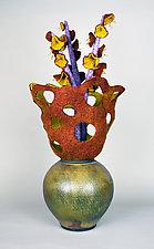 Approaching Autumn by Ellen Silberlicht (Mixed-Media Sculpture)