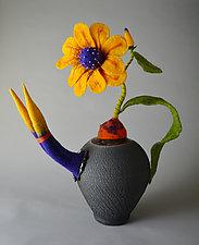 Welcome the Day by Ellen Silberlicht (Ceramic & Fiber Sculpture)