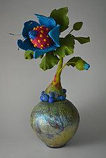 Henrietta by Ellen Silberlicht (Ceramic & Fiber Sculpture)