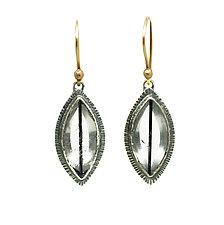 Tourmalated Quartz Earrings by Jenny Foulkes (Silver Earrings)