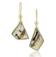 Montana Agate and Diamond Earrings by Jenny Foulkes (Jewelry Earrings)