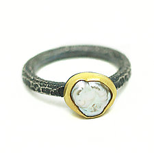 Pearl Ring by Jenny Foulkes (Silver & Stone Ring)
