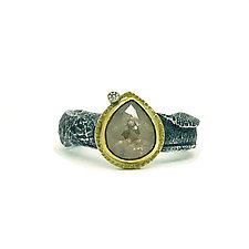 Raw Diamond Ring by Jenny Foulkes (Gold & Stone Ring)