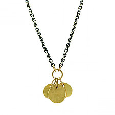 Gold Dangle Necklace by Jenny Foulkes (Gold & Silver Necklace)