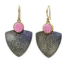 Tourmaline Swirl Earrings by Jenny Foulkes (Gold, Silver & Stone Earrings)