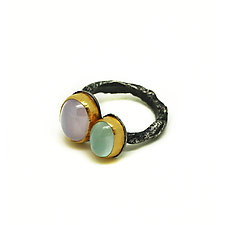 Two Stone Ring by Jenny Foulkes (Gold, Silver & Stone Ring)