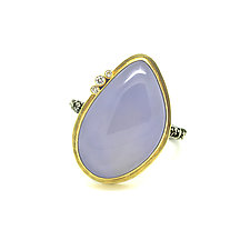 Chalcedony and Diamond Ring by Jenny Foulkes (Gold & Stone Ring)